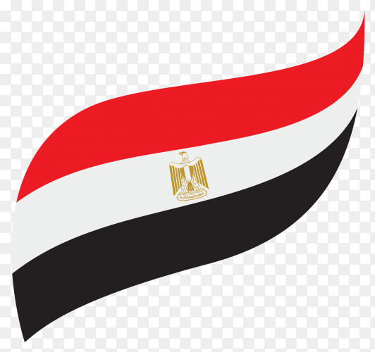Illustration of egypt flag design on transparent background PNG