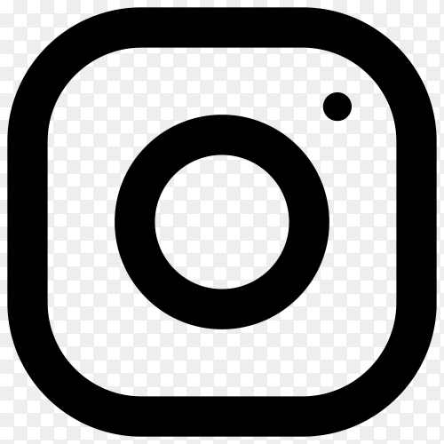 Instagram icon with flat design on transparent background PNG
