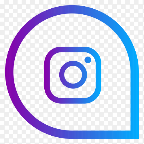 Instagram social media logo on transparent background PNG