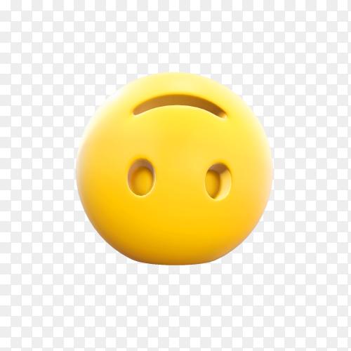 Inverted face emoji illustration premium vector PNG