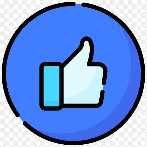 Like icon on transparent background PNG
