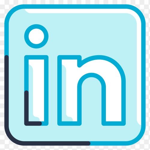 Liknedin logo illustration on transparent background PNG