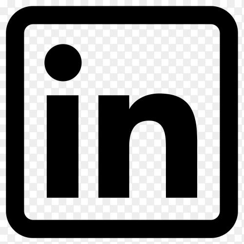 Linkedin icon design premium vector PNG