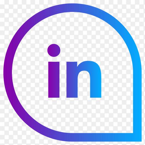 Linkedin social media logo premium vector PNG