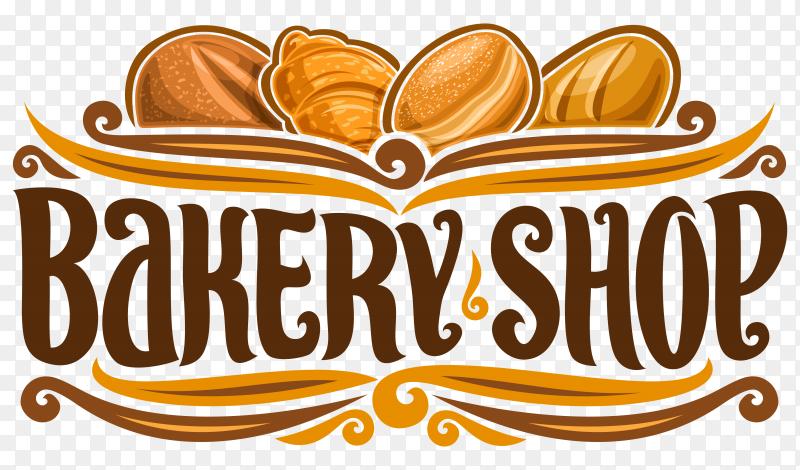 Logo for Bakery Shop on transparent background PNG