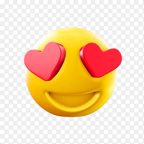 Love emoji illustration on transparent background PNG