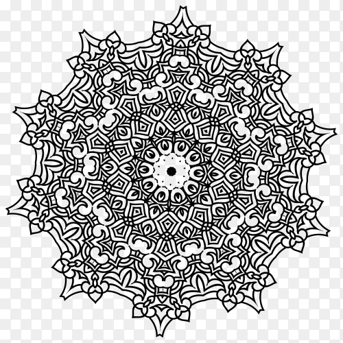 Luxury mandala premium vector PNG