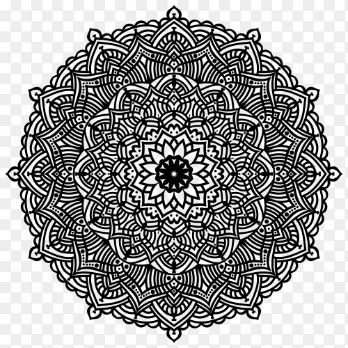 Mandala design on transparent background PNG
