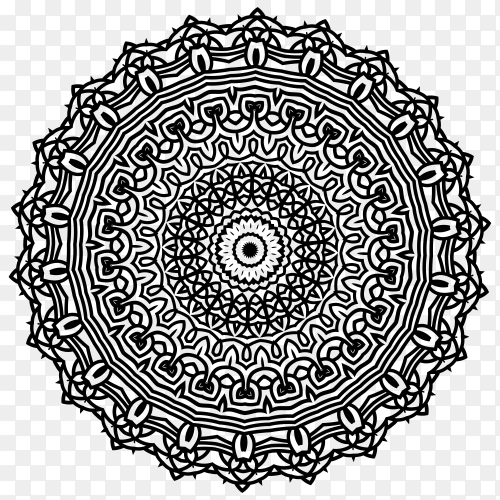 Mandala illustration on transparent background PNG