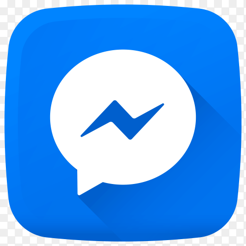 Messenger icon design premium vector PNG