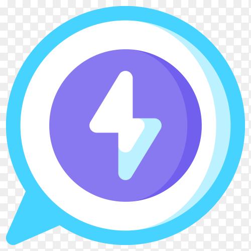 Messenger logo premium vector PNG