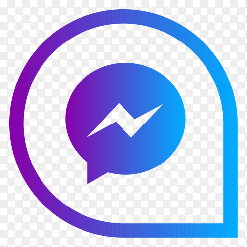 Messenger social media logo on transparent background PNG