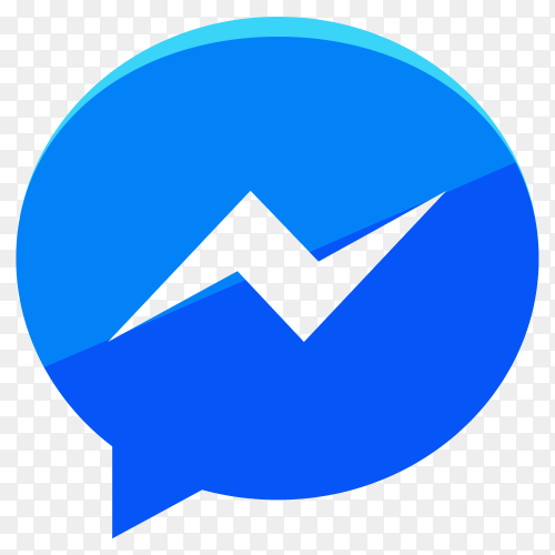 Modern Facebook messenger icon illustration on transparent background PNG