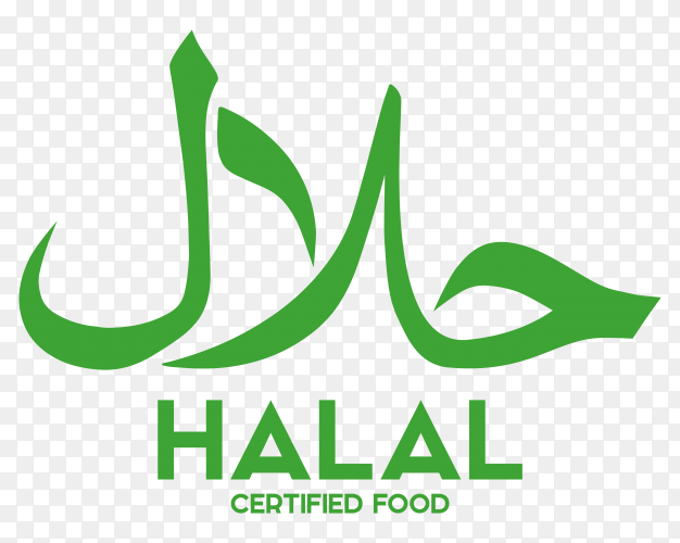 Muslim traditional halal food badge premium vector PNG
