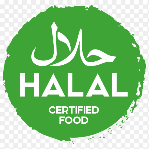 Muslim traditional halal food icon on transparent background PNG