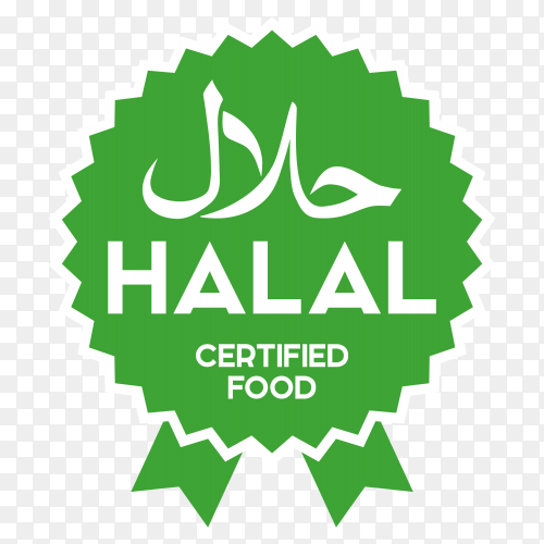 Muslim traditional halal food icon premium vector PNG