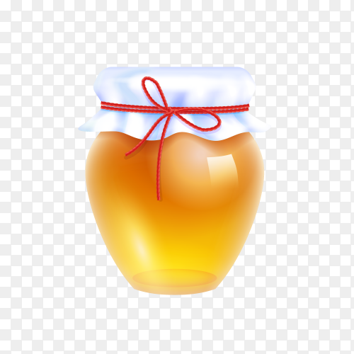 Natural Honey illustration on transparent background PNG