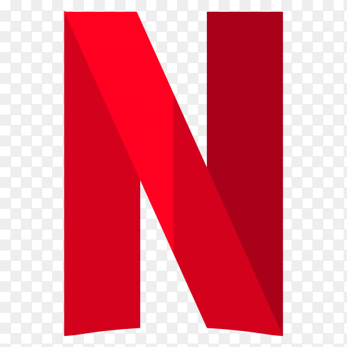 Netflix logo on transparent background PNG