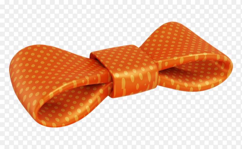 Orange bow symbol on transparent background PNG