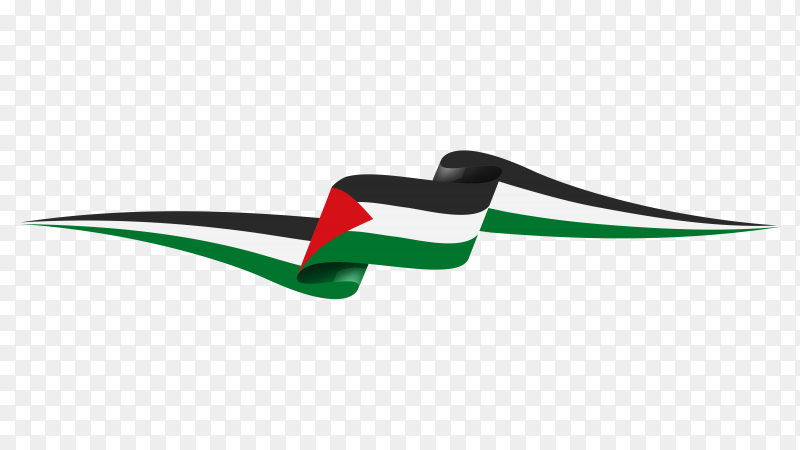 Palestine flag illustration on transparent PNG