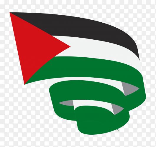 Palestine flag premium vector PNG