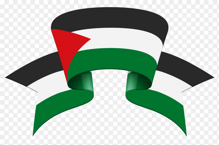 Palestine flag vector PNG