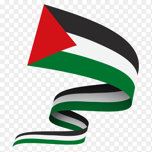 Palestine flag waving Clipart PNG
