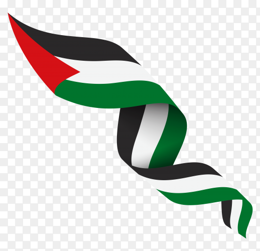 Palestine national flag isolated premium vector PNG