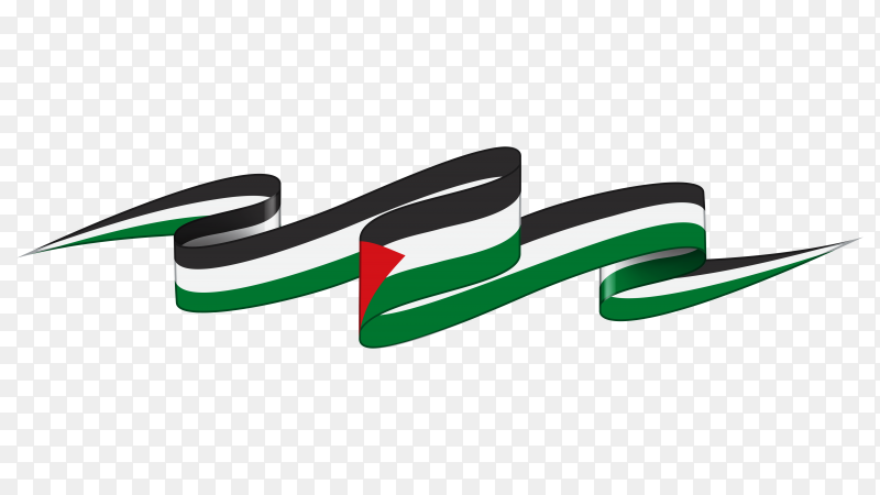 Palestine national flag premium vector PNG