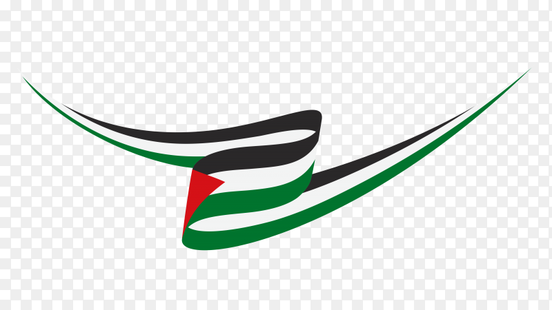 Palestine waving flag isolated premium vector PNG