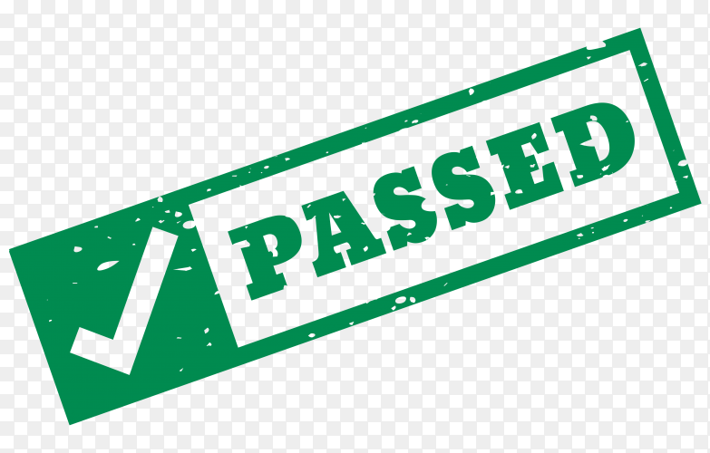 Passed stamp on transparent background PNG