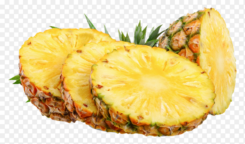Pineapple fruit on transparent PNG