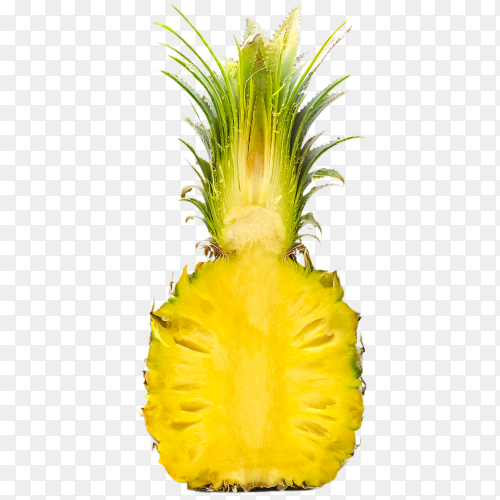 Pineapple with juice on transparent background PNG