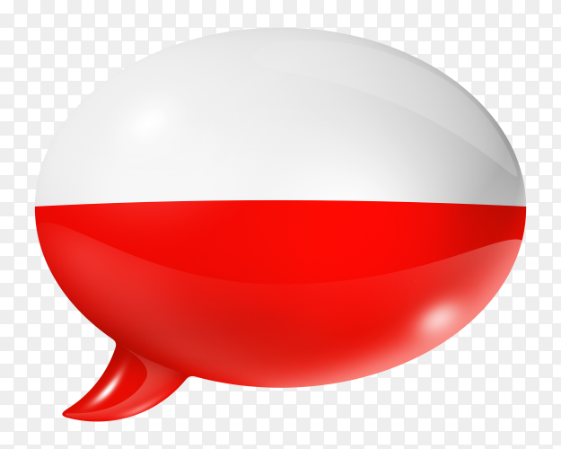 Poland flag – Polish flag shaped speech bubble on transparent background PNG