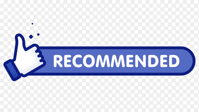Recommended like icon on transparent background PNG