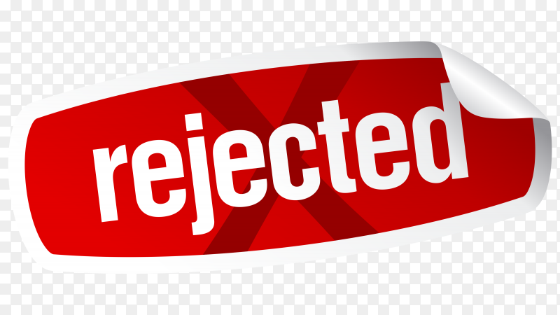 Rejected sticker on transparent background PNG