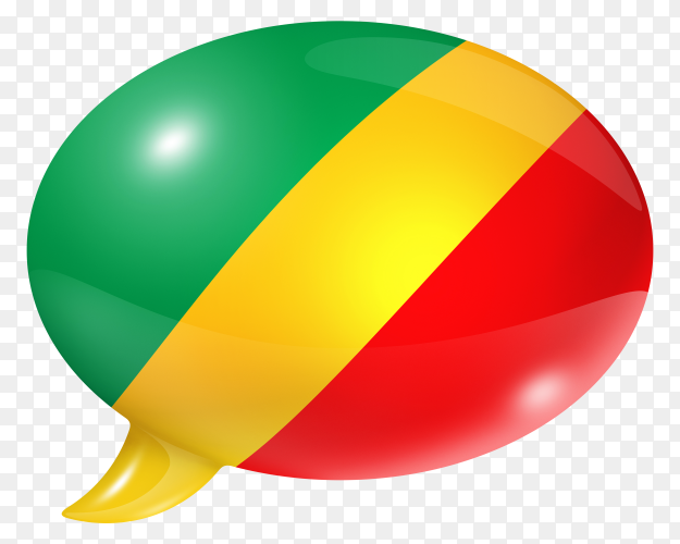 Republic of the Congo flag – Congo flag Polish flag shaped speech bubble on transparent PNG