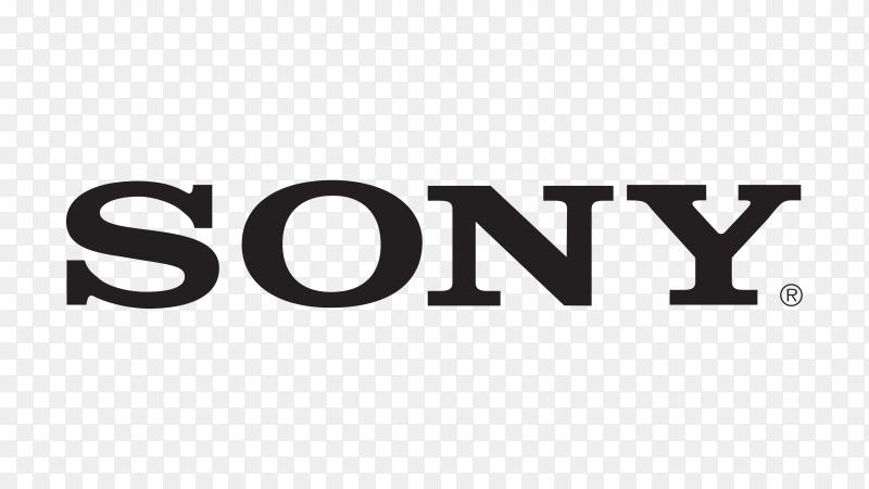 SONY lettering design on transparent background PNG