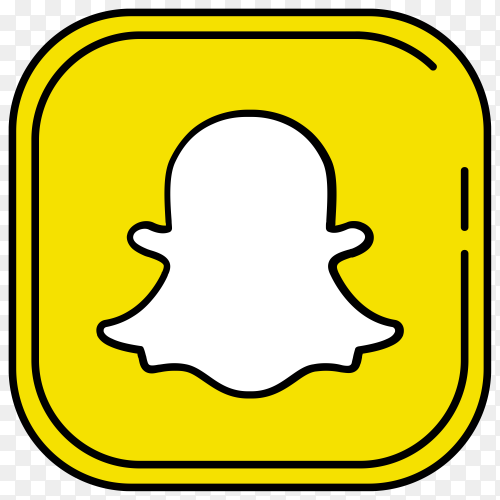 Snapchat icon design on transparent background PNG