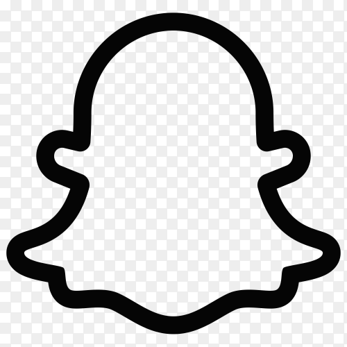 Snapchat logo on transparent background PNG