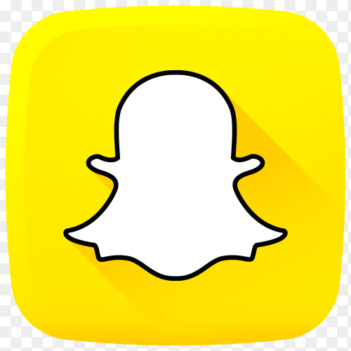 Snapchat social media design on transparent background PNG