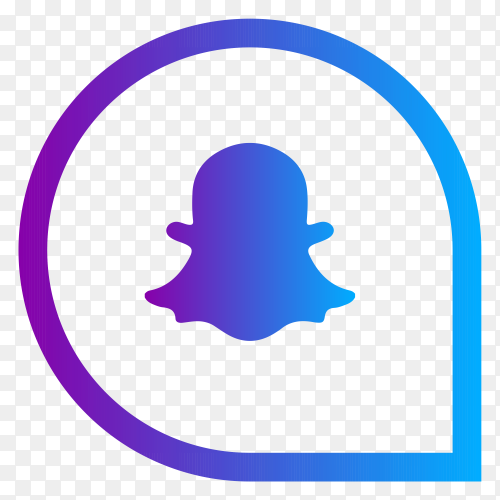 Snapchat social media logo on transparent background PNG
