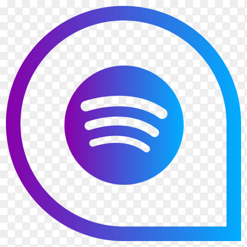 Spotify icon with modern style on transparent background PNG