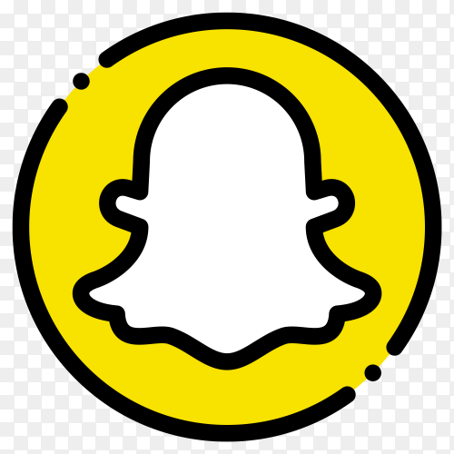 Style snapchat social media logo on transparent background PNG