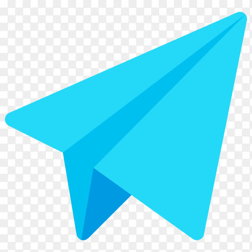 Telegram icon on transparent PNG