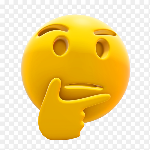 Thinking emoji premium vector PNG