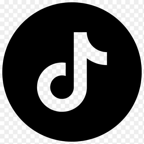 Tiktok icon design on transparent background PNG