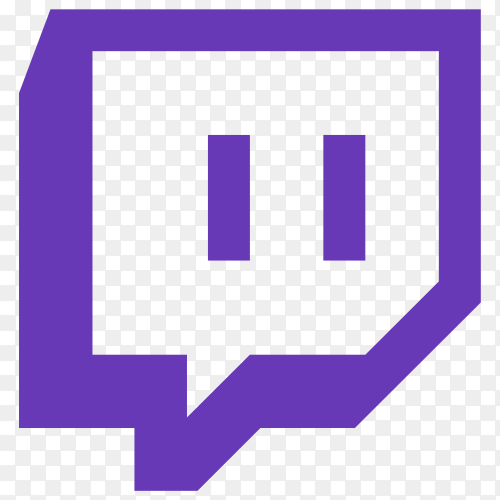 Twitch logo on transparent background PNG