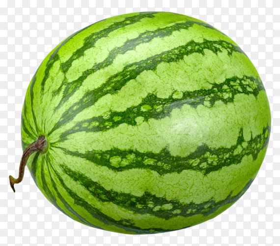 Watermelon fruit is sweet on transparent background PNG