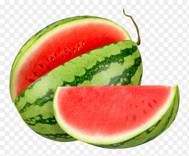 Watermelon isolated on transparent background PNG
